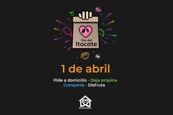 Realizan Día del Itacate en apoyo a restaurantes de la CDMX
