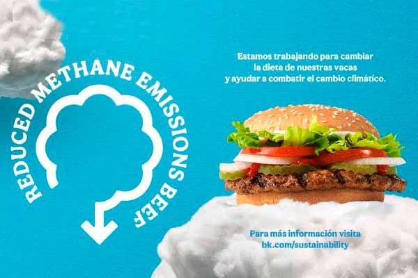 Burger King crea nueva dieta para vacas que reduce emisiones de metano