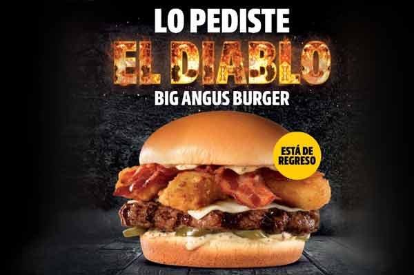 La hamburguesa El Diablo Big Angus Burger regresa a Carl's Jr.