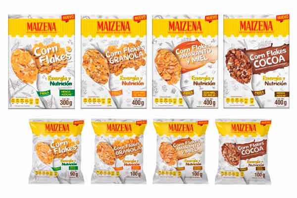 4 cereales Maizena con menos azúcar para un desayuno ideal
